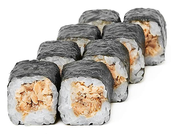 Хосомакі з запеченим лососем