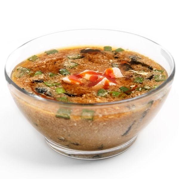 Місо суп з копченою куркою